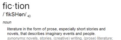 Fiction definition